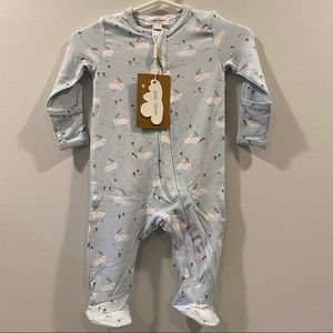 Blue Bunny Footed Pajamas🐰💙 Soft BAMBOO Blend